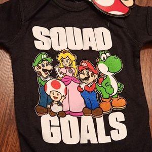 Super Mario Bros Baby Cloths